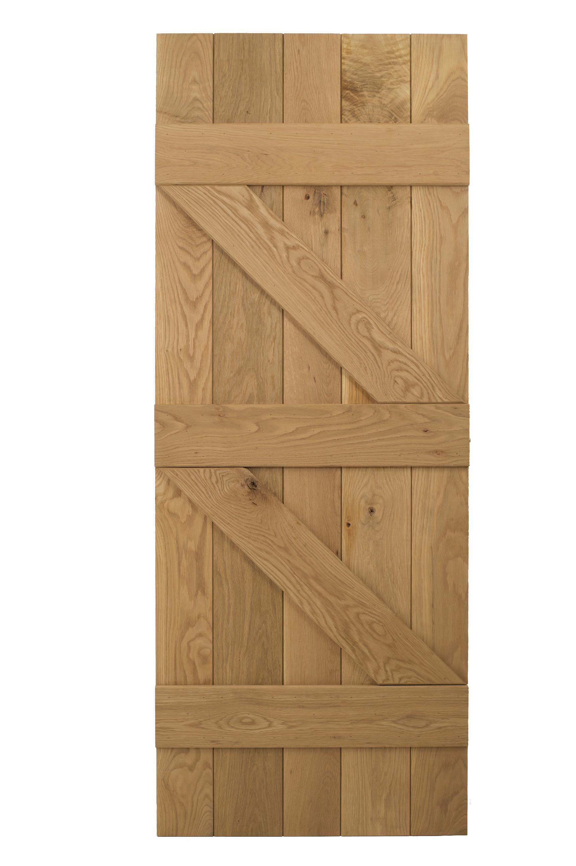 Solid oak 3 ledged braced cottage door blueprint for Solid back doors