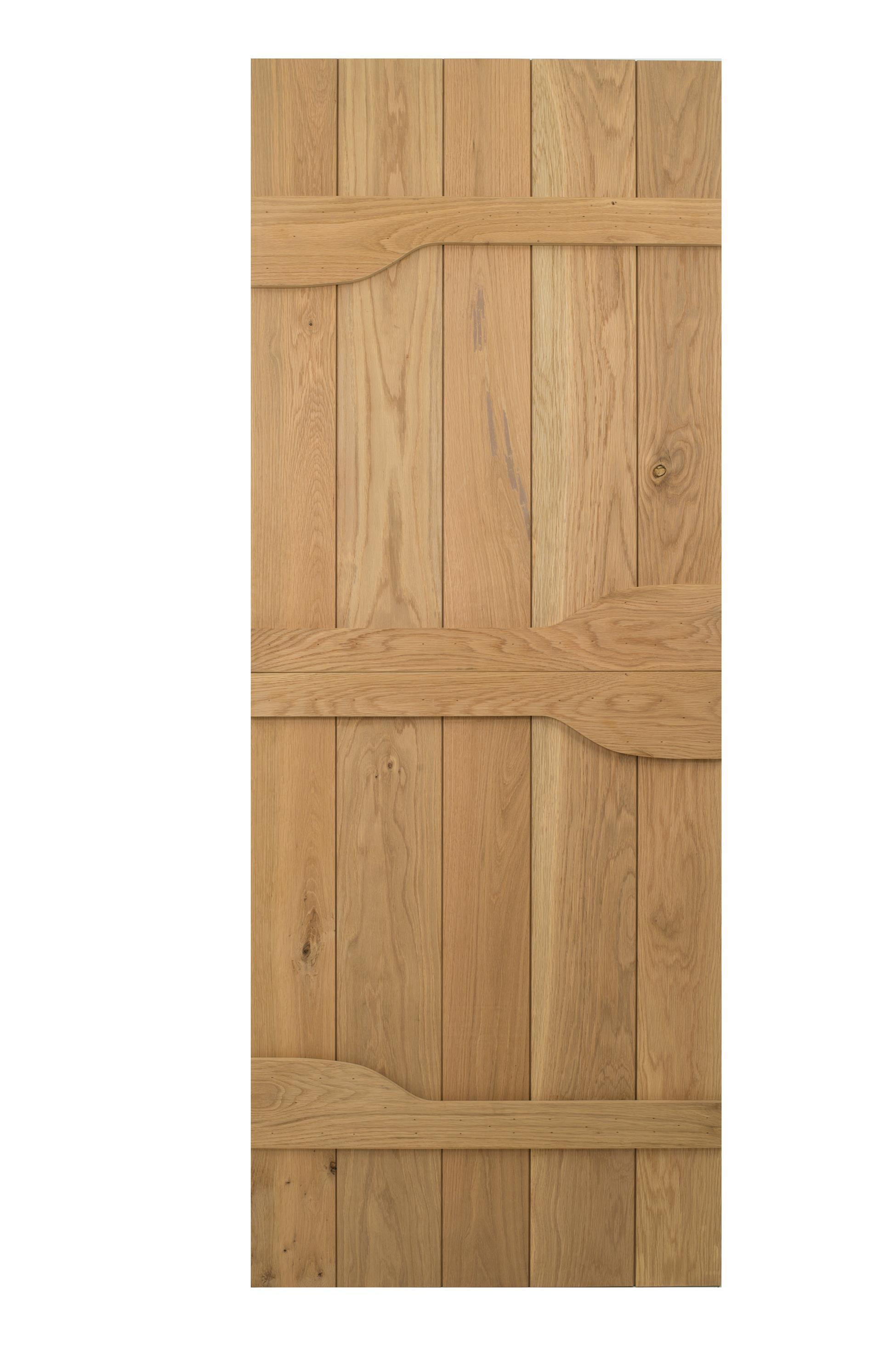 Solid oak 3 ledged rivelin cottage door blueprint for Solid back doors