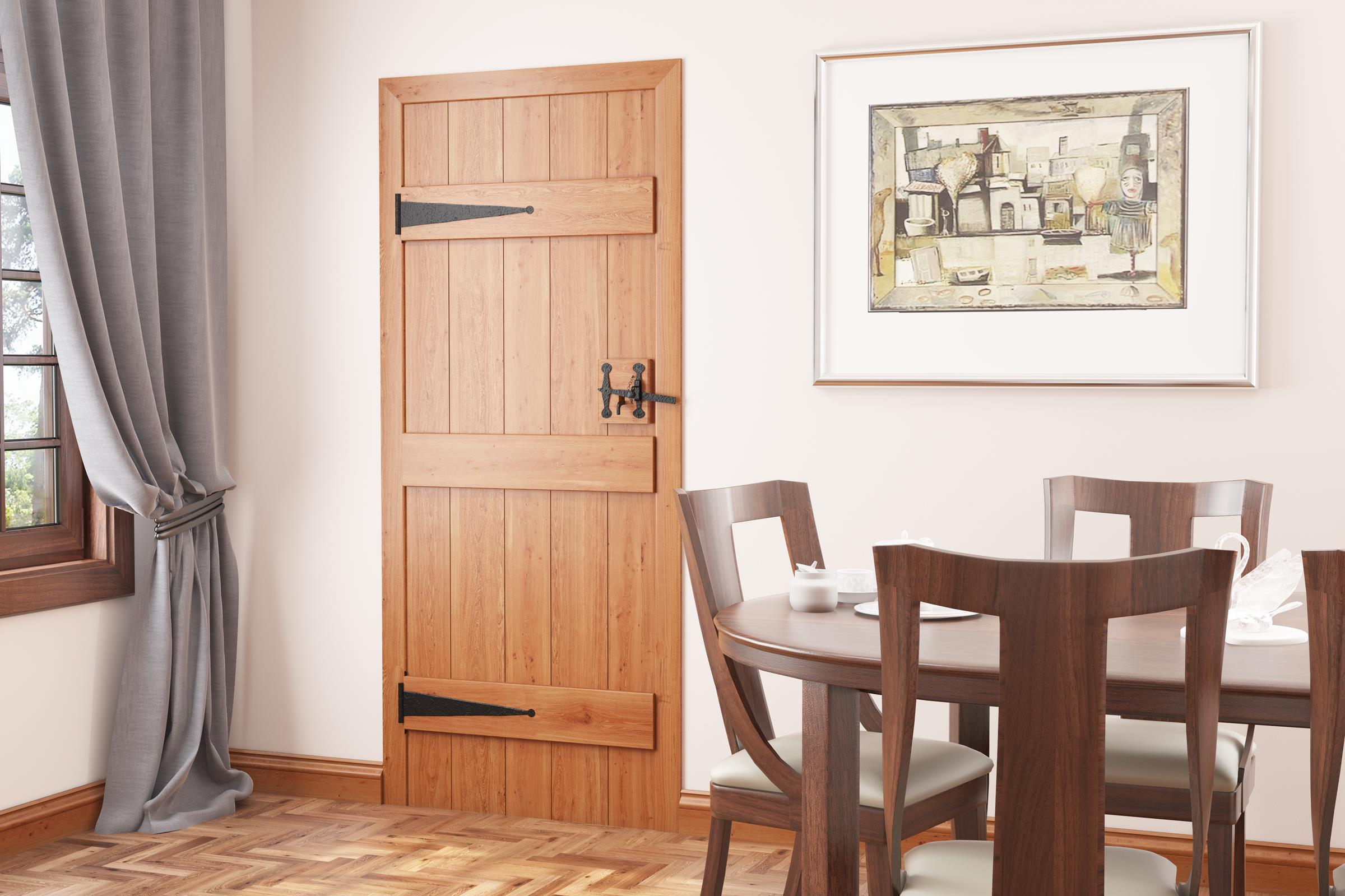 A lifestyle image of our Solid Oak 3 Ledged Cottage Door.