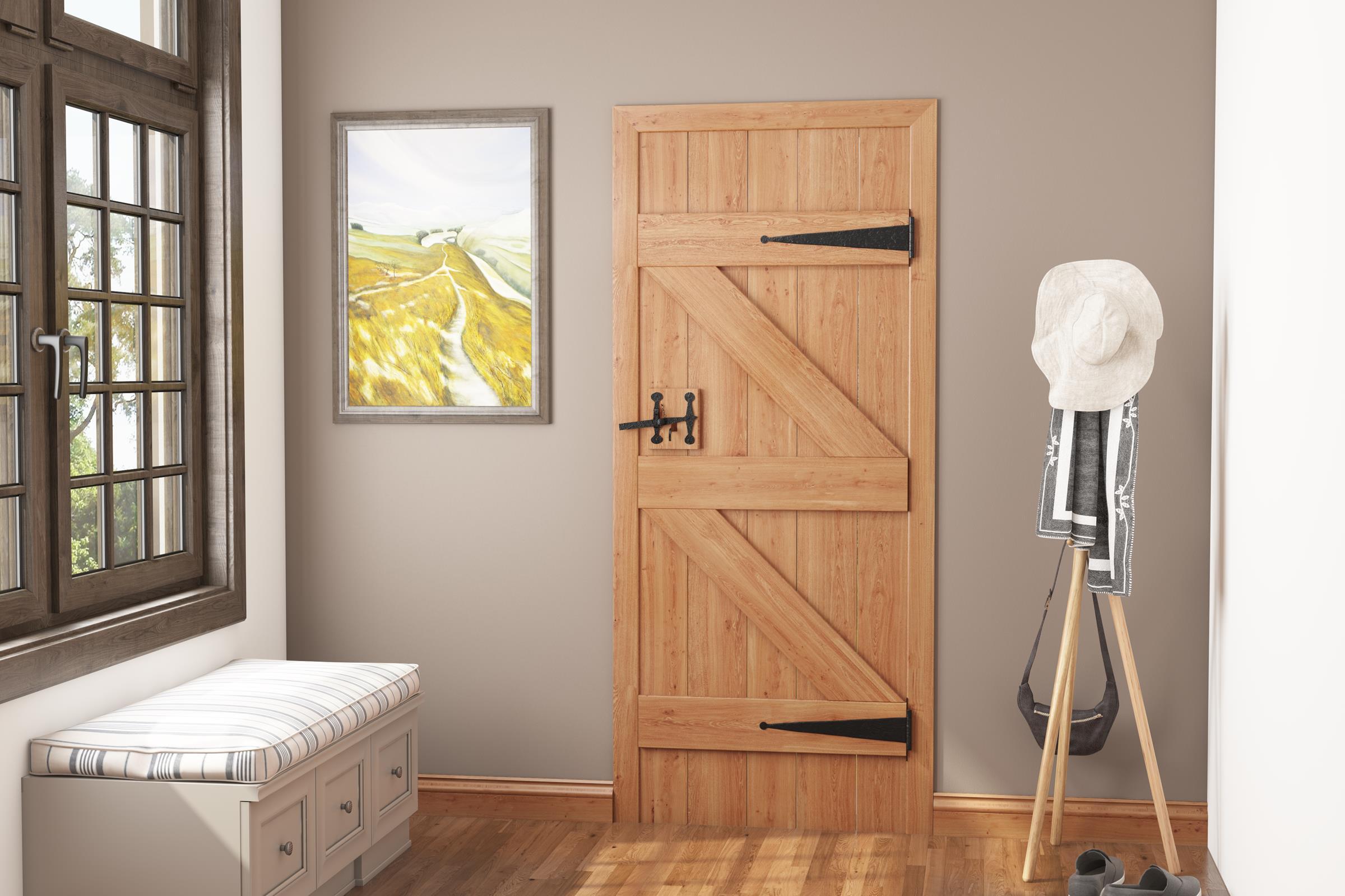 Solid Oak 3 Ledged Amp Braced Cottage Door Blueprint
