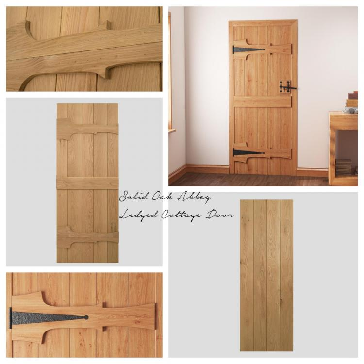 A picture of a Solid Oak Abbey Ledge Door that we stock on our website.