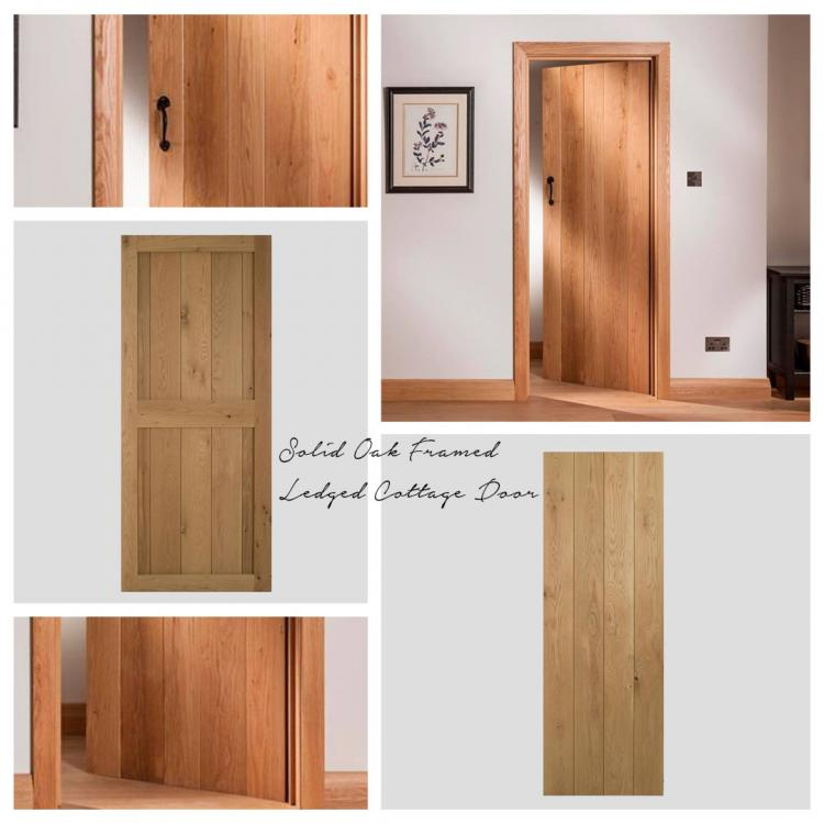 A picture of a Solid Oak Framed Door that we stock on our website.