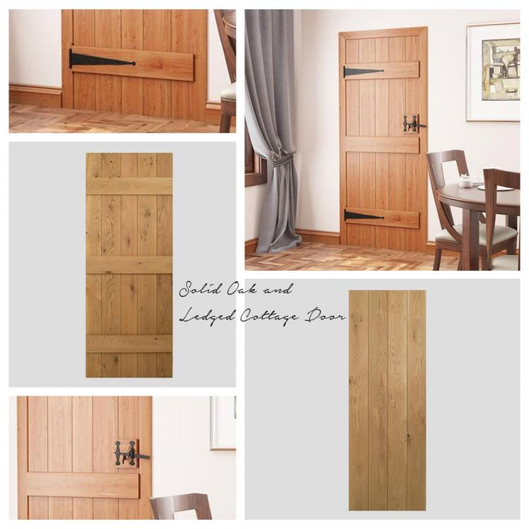 A picture of a Solid Oak Ledged Cottage Door that we stock on our website.