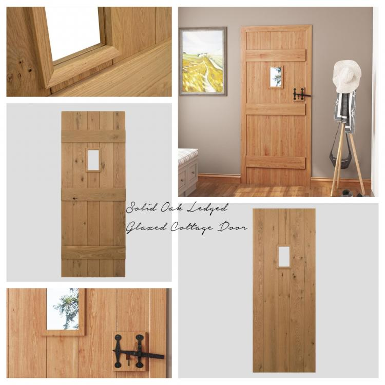 A picture of a Solid Oak Glazed Door that we stock on our website.