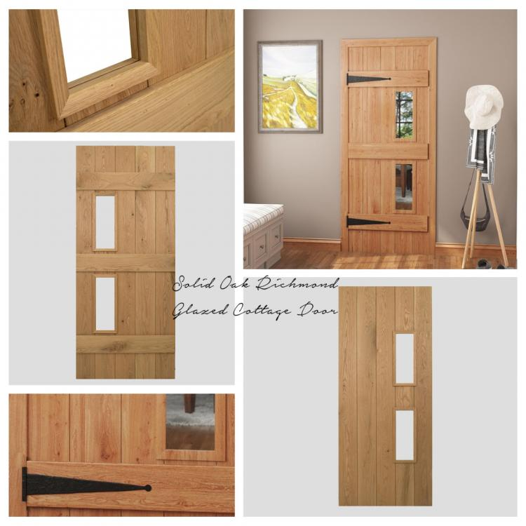 A picture of a Solid OakRichmond Door that we stock on our website.